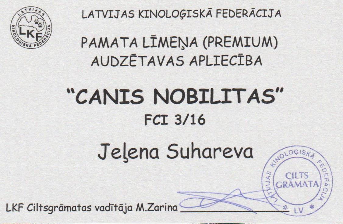 CANIS NOBILITAS